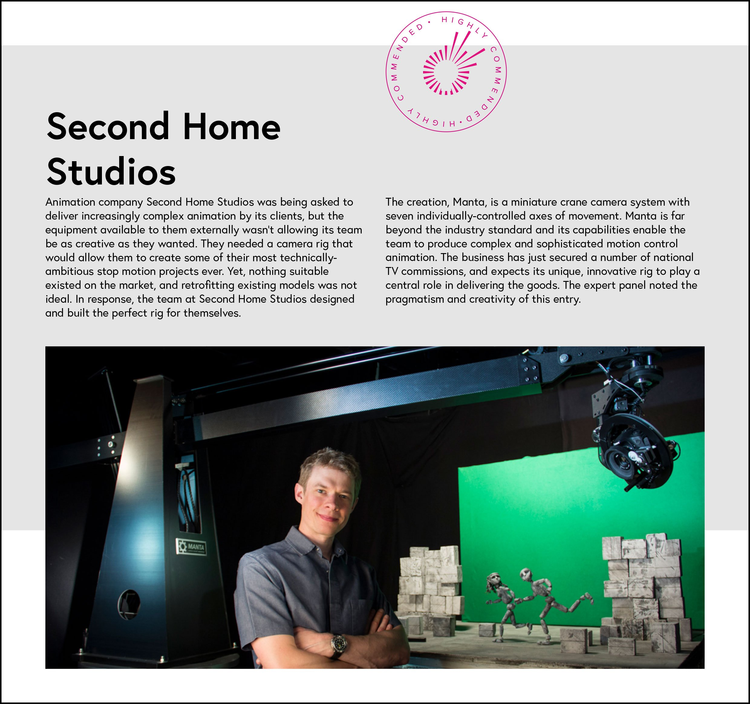 The Second Home Animation Studios Motion Control Rig Article