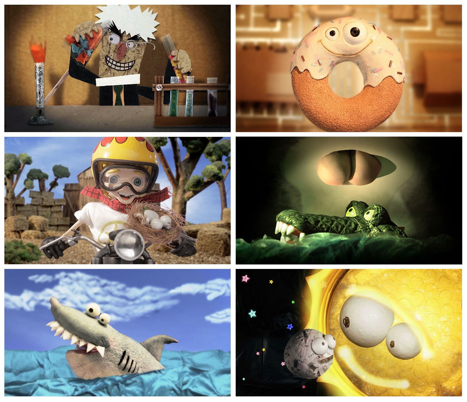 Compilation of six still frames from Citv Share A Story Puppetry and Stop Motion Animations