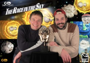 Second Home Animations winning the RTS award for 'The Race in the Sky'.