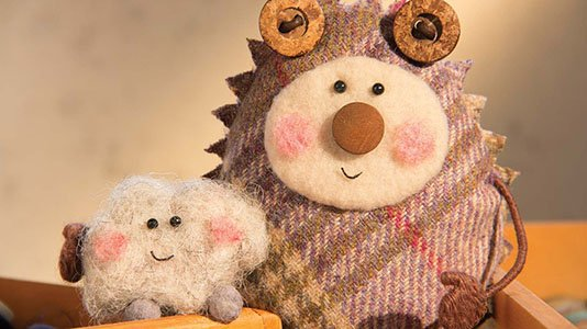 Tweedy & Fluff - Characters from a stop motion animation for CBeebies