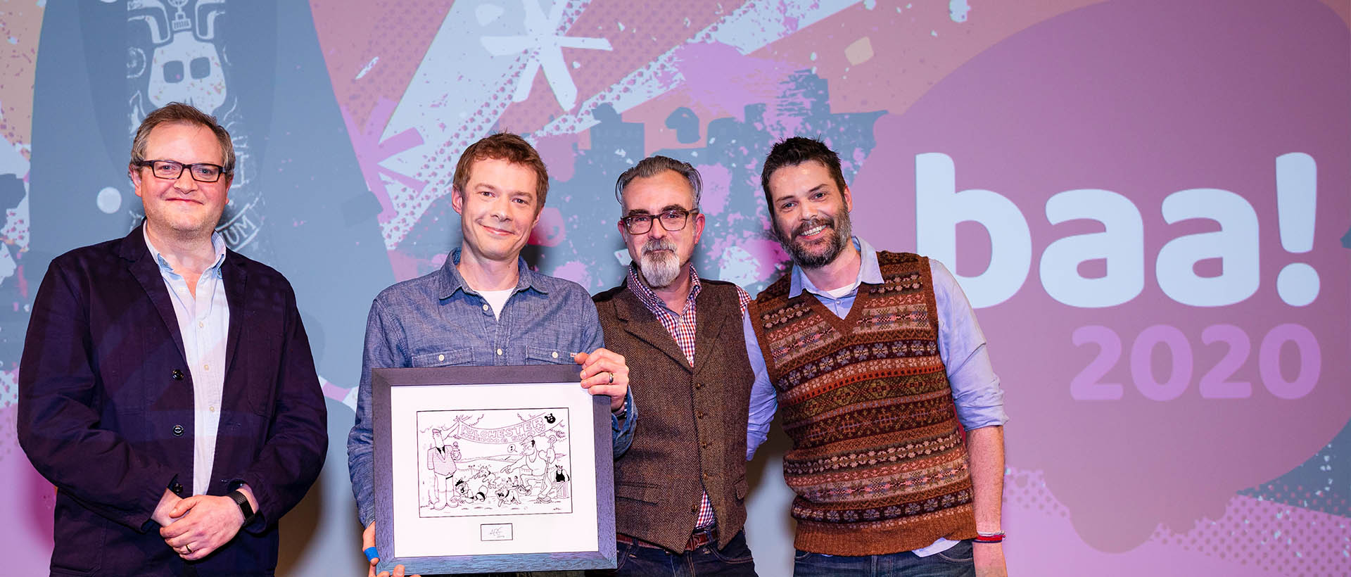 Second Home Animation Studios receiving an award at the British Animation Awards.