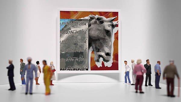 Da Vinci - Gallery Ident - Stylised reference to Leonardo's Horse