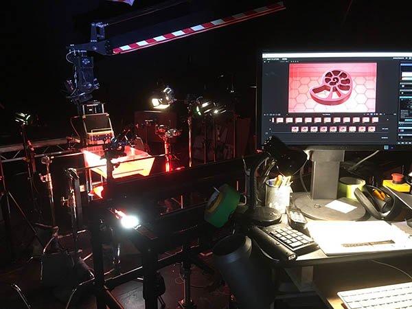 Da Vinci - Signs Ident - The 3D printed Nautilus in situ in the studio