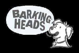 Barking Heads Logo - Grey
